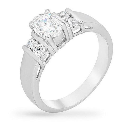 Susan 1.5ct Clear CZ White Gold Rhodium Assorted Engagement Ring