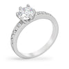 Tracy 1ct CZ White Gold Rhodium Simple Ring