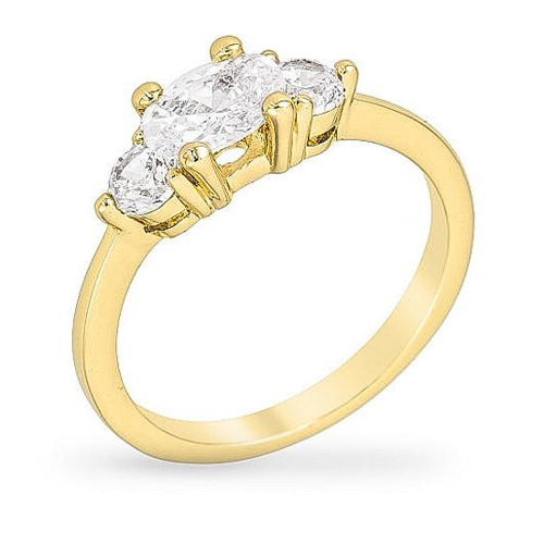 Mariah 1.5ct CZ 14k Gold Ring
