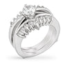 Rickie 3ct CZ White Gold Rhodium Ring Set