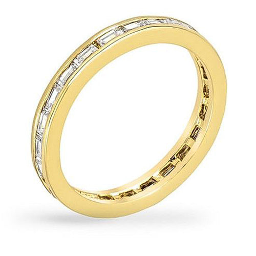 Cora 1.5ct CZ 14k Gold Eternity Band