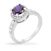 Hansley 3ct Dark Tanzanite CZ White Gold Rhodium Ring