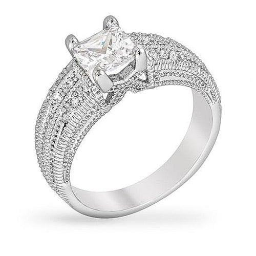Bobbi 1.4ct CZ White Gold Rhodium Ring