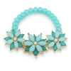 Fiona Mint Stretch Floral Bracelet