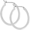 Simple Silvertone Hoop Earrings