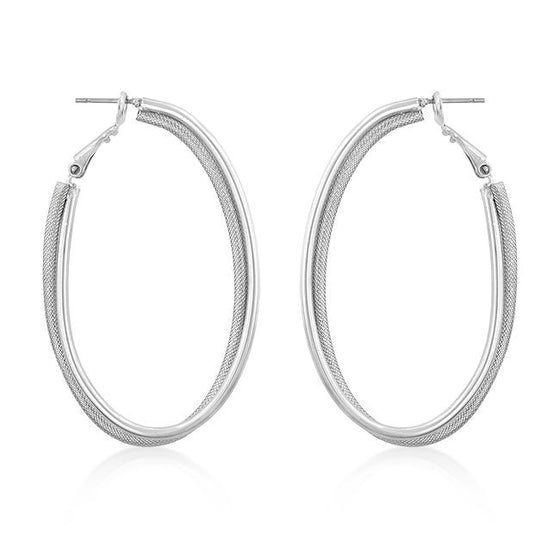 Two-Texture Hooplet Earrings