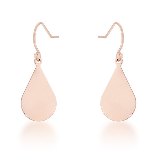 Karla Rose Gold Stainless Steel Teardrop Earrings