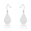 Karla White Gold Rhodium Stainless Steel Teardrop Earrings