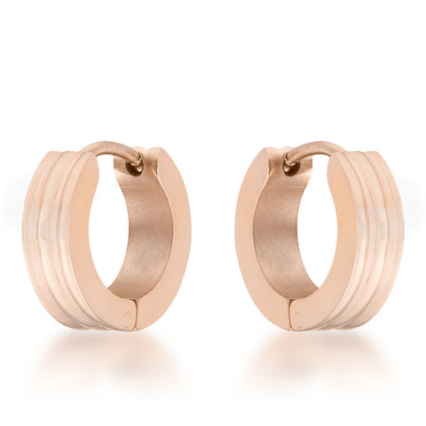 Marlene Rose Gold Stainless Steel Small Hoop Earrings