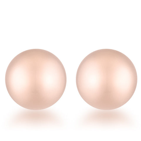 Julia Rose Gold Sphere Stud Earrings