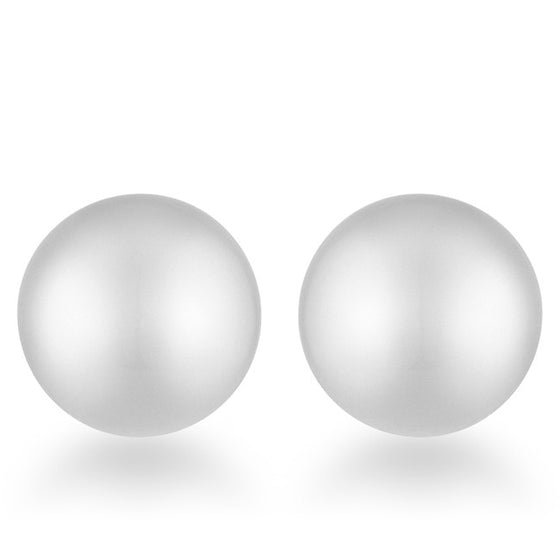 Julie Rhodium Sphere Stud Earrings