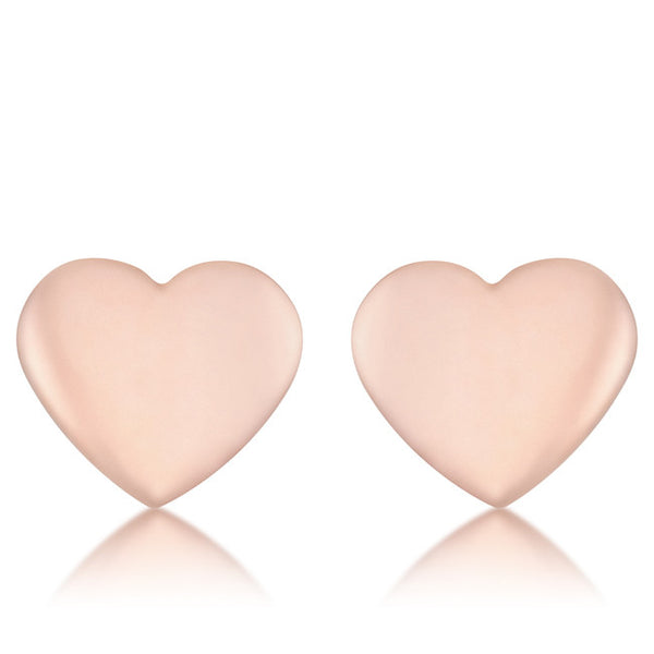 Janet Rose Gold Heart Stud Earrings