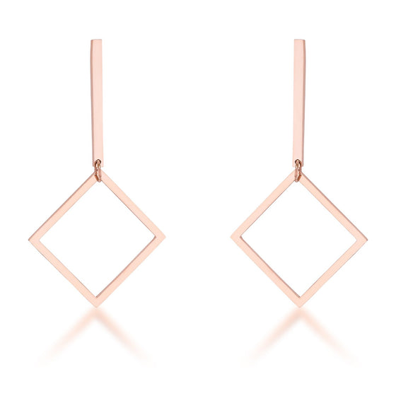 Trendy Geometric Stainless Steel Drop Earrings