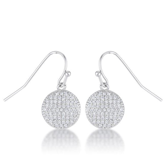 .6 Ct Elegant Cubic Zirconia Disk Earrings