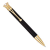 Gold Plated Black Jeweled Crown Pen