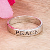 Rhodium Plated Peace Inspirational Band