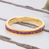 18k Gold Plated Purple Crystal Stackable