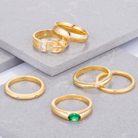 Gold Plated Simple Bands