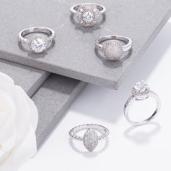 Pave And Ice Ring Collection