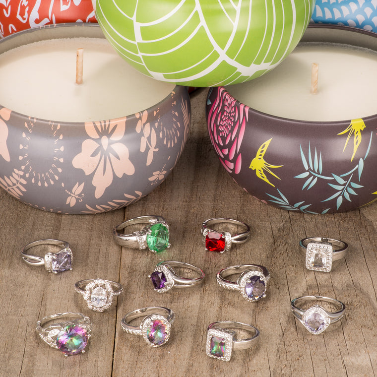 Luxury Scented Candle & Jewel Bundle