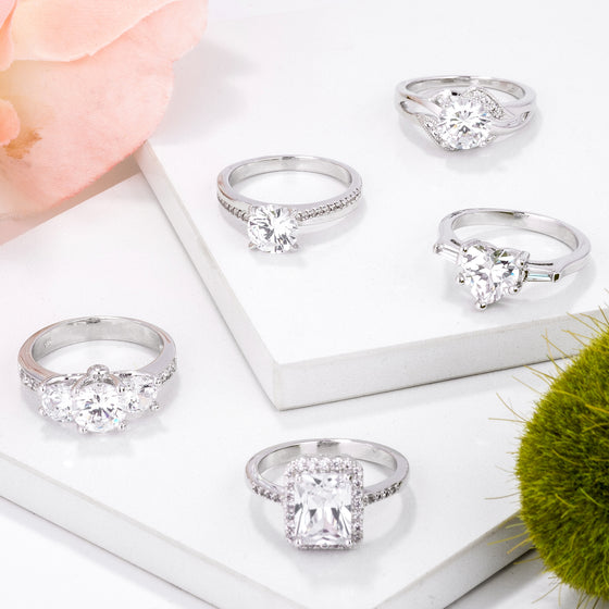 Clear CZ Classic Rings