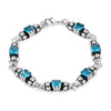 Mini Aqua Cubic Zirconia Ball Bracelet