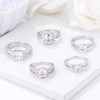 Clear CZ Engagement Rings