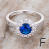 Royal Blue CZ Rings