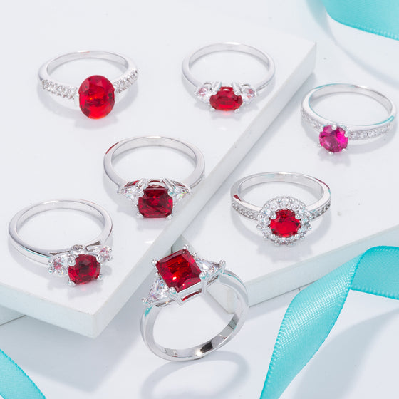 Ruby Red Rings