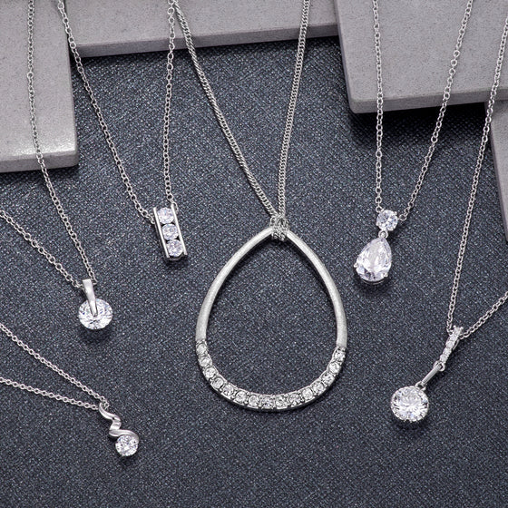 Classic Clear Crystal Pendants