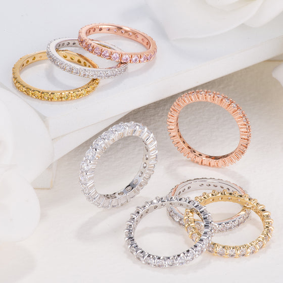 Classic Eternity Bands with Cubic Zirconia