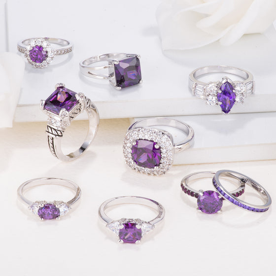February Birthstone Ring Collection