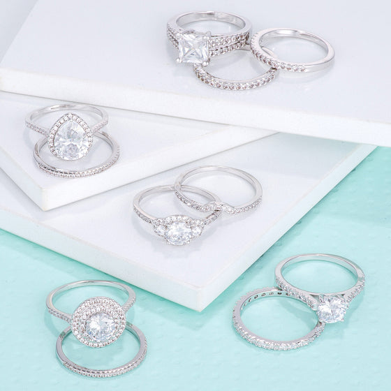 Pave Wedding Sets