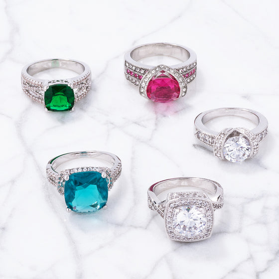 Shimmering Shoulders Ring Collection