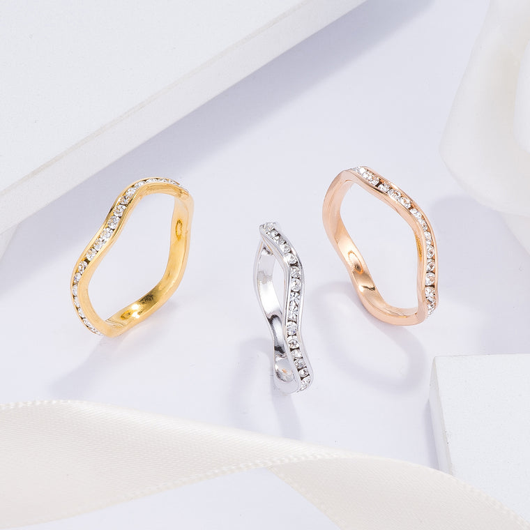 Wavy Stackble Rings