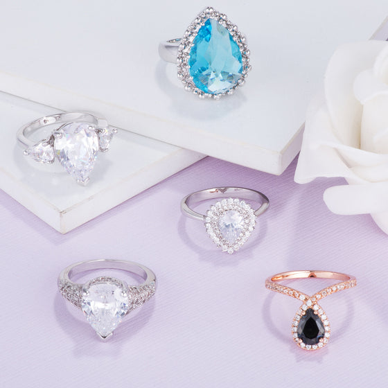 Pear Shaped CZ Rings