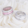 Avril Triple Row Eternity Ring