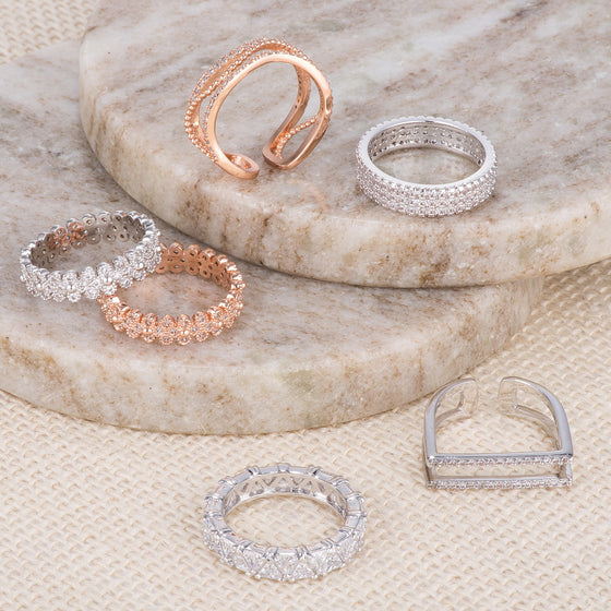 Micro Pave CZ Rings