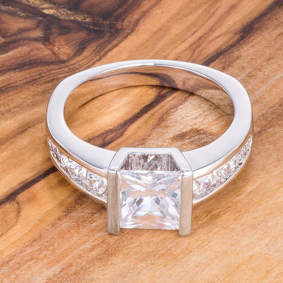 2.1Ct Classic Princess Cut Ring