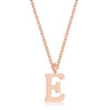 Elaina Rose Gold Stainless Steel E Initial Necklace