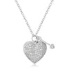 .12 Ct Rhodium Heart and Arrow Pendant with Cubic Zirconia