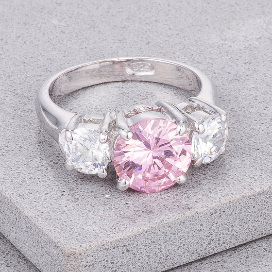 Mini Meghan Sterling Silver Pink Ring