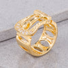 Goldtone Belt Ring