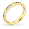Tessa 3.5ct Crystal 14k Gold Eternity Band