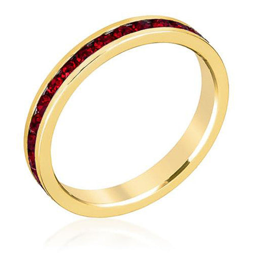 Tessa 3.5ct Garnet Crystal 14k Gold Eternity Band