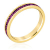 Tessa 3.5ct Amethyst Crystal 14k Gold Eternity Band