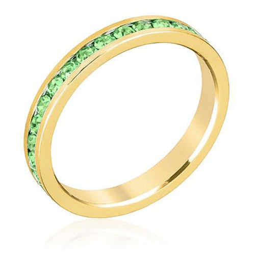 Tessa 3.5ct Peridot Crystal 14k Gold Eternity Band