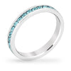 Tessa 3.5ct Crystal Aqua White Gold Rhodium Eternity Band