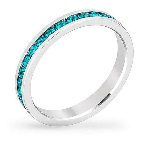 December Crystal Eternity Band