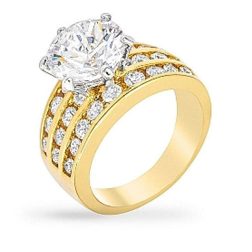 Leandra 5.6ct CZ 14k Gold Ring
